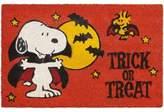 Nourison Peanuts® 28-Inch x 18-Inch Halloween Trick or Treat Coir Door Mat in Orange
