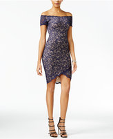 B. Darlin Juniors' Lace High-Low Bodycon Dress