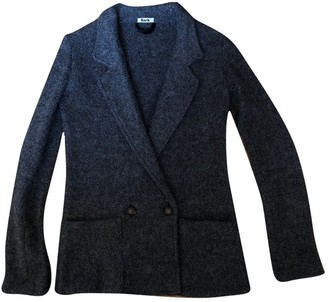 Bark Anthracite Wool Jacket for Women