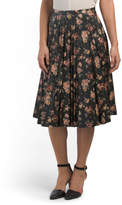 Juniors Abela Printed Faux Leather Skirt