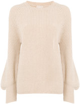 Drumohr ribbed flared sleeve sweater