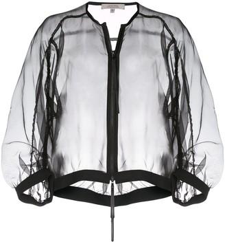 Schumacher Dorothee silk sheer cropped jacket