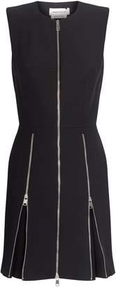Alexander McQueen Zip Detail Mini Dress