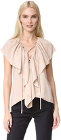 Derek Lam Sleeveless Ruffle Blouse