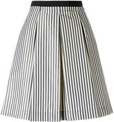 Moncler striped full skirt - women - Cotton/Polyamide - 40