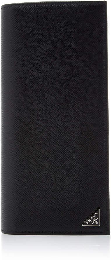 Prada Textured-Leather Document Holder