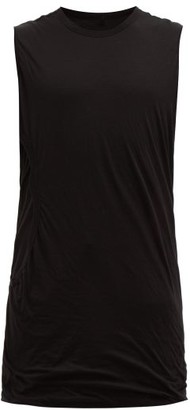 Rick Owens Cut-out Longline Cotton Tank Top - Mens - Black