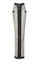 Balmain Long Sequined Zip Skirt