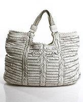 Anya Hindmarch White Leather Gold Tone Hardware Shoulder Handbag