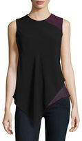 Calvin Klein Tiered Asymmetrical Top