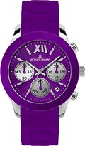Jacques Lemans Women's 1-1587K Rome Sports Sport Analog Chronograph with Silicone Strap Watch