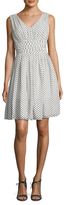 Julia Jordan Polka Dot Fit And Flare Dress