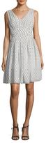 Julia Jordan Polka Dot Fit & Flare Dress