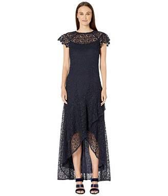 ML Monique Lhuillier High-Low Ruffle Dress