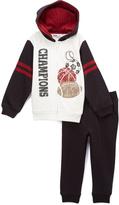 Kids Headquarters White & Black 'Champions' Hoodie & Pants - Infant & Boys