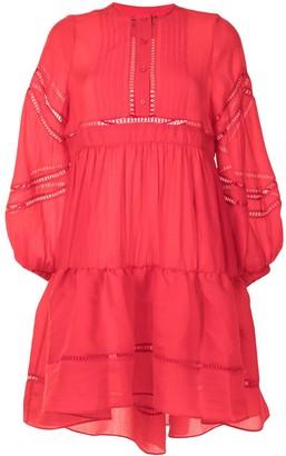 Cynthia Rowley Lace-Trimmed Mini Dress