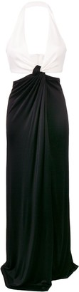 Galvan Eclipse draped two-tone gown