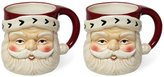 Southern Living Holiday Santa Mugs, Set of 2