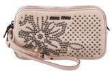 Miu Miu Beaded Leather Wristlet