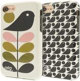 Orla Kiely Two-Part Design Fashion Hardshell Duo Phone Case Pack for iPhone 7 - Ditsy Early Bird & Early Bird Design