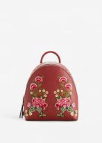 MANGO Embroidered Studded Backpack