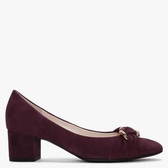 Högl Harriet Burgundy Suede Court Shoes