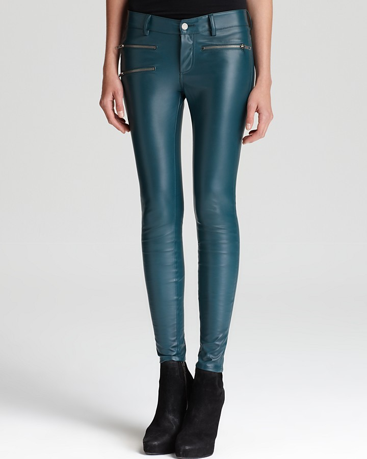 Parker Faux Leather Pants - with Zips
