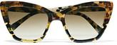 Prism Cat-eye Acetate Sunglasses - Tortoiseshell
