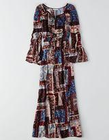 American Eagle AEO Tie Sleeve Maxi Dress