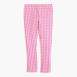 J.Crew Girls' leggings in pink gingham