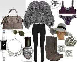 Costume National, Fendi, Charm & Chain, Black Diamond