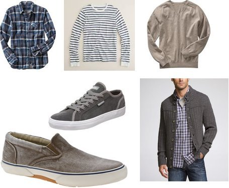 Etnies, Express, Gap, J.Crew, Gap, Sperry