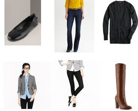 J.Crew, Audrey Brooke, Banana Republic, Tory Burch