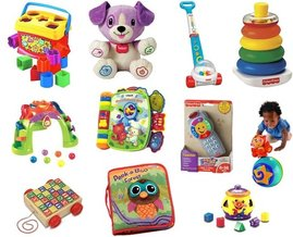Lamaze, Vtech, Melissa & Doug, Fisher-Price