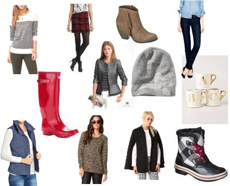 J.Crew, Banana Republic, Forever 21, Hunter