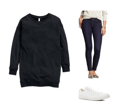 Old Navy, H&M, Converse