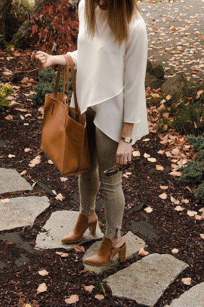 This fall I gushed over a tan pair of Rebecca Minkoff mules -- the first I've owned since, well, grade school. To mule or not to mule? Answered here. #mule #shoes #rebeccaminkoff #gucci #fendu #fallstyle #tbt #throwback