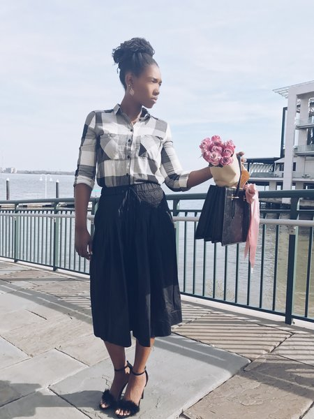 Checkered Shirt + Featured Heels