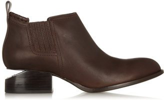 Alexander Wang Kori cutout-heel textured-leather ankle boots