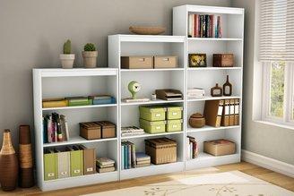Green Baby South Shore Axess Collection 4-Shelf Bookcase - White