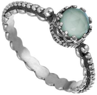 Becky Kelso Aqua Calcite Beaded Ring