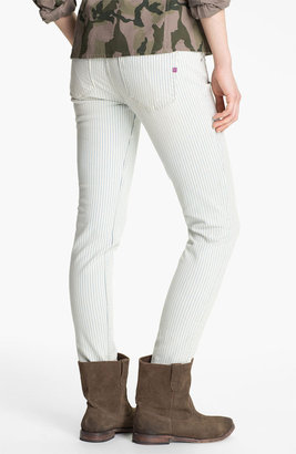 Vigoss Stripe Skinny Jeans (Juniors)