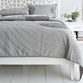 west elm Narrow-Leg Wood Bed Frame - White