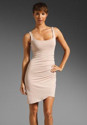 Susana Monaco Light Supplex Overlap Tank Dress
