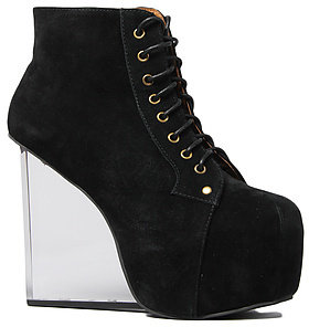 Jeffrey Campbell The Dina Shoe in Black Suede