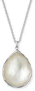 Ippolita Sterling Silver Wonderland Large Teardrop Pendant Necklace In Mother-of-Pearl, 16