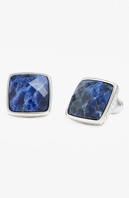 Men's David Donahue Sterling Silver Cuff Links $225 thestylecure.com
