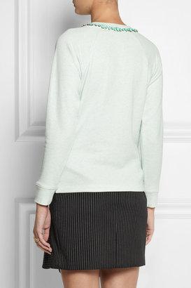 J.Crew Crystal-embellished cotton-blend terry sweatshirt