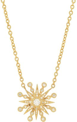 THE ALKEMISTRY Colette 18ct Yellow Gold And Diamond Starburst Necklace