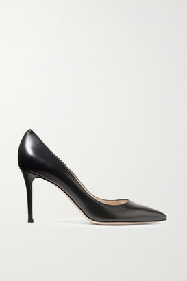 Gianvito Rossi 85 Leather Pumps - Black
